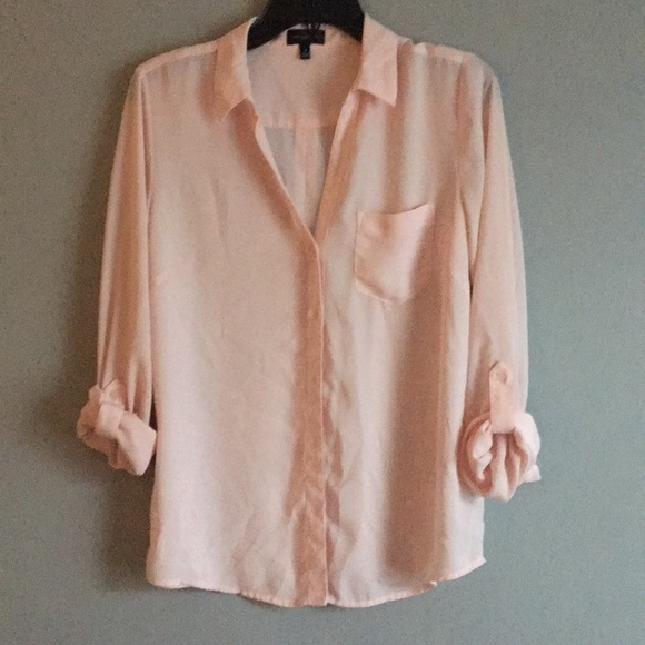 The Limited Tops - The Limited pink blouse